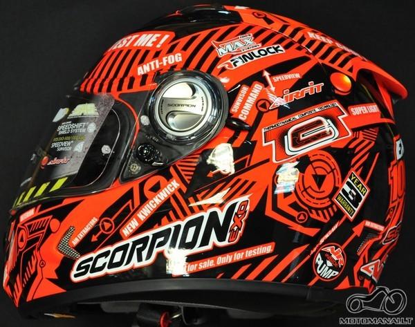Scorpion nario dydis